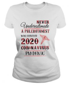 Good Never Underestimate A Phlebotomist 2020 Coronavirus Pandemic  Classic Ladies