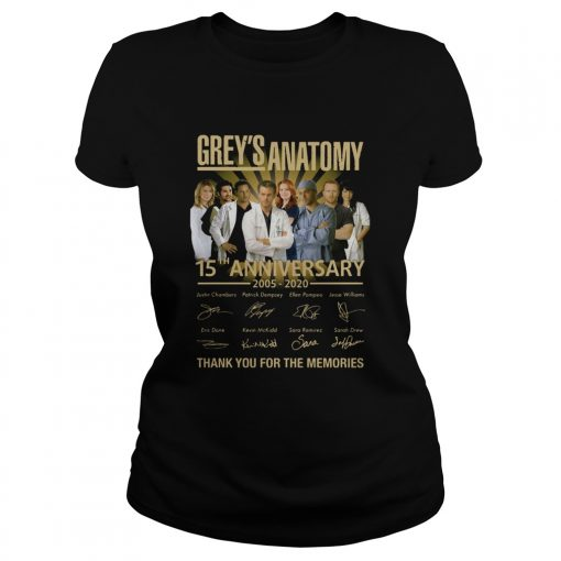 Greys Anatomy 15th Anniversary 2005 2020 Thank You For The Memories  Classic Ladies