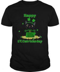 Happy Stcatricks Patricks Day Cat Lover Shamrock  Unisex