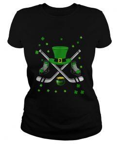 Hockey Hat Leprechaun St Patricks Day Boys Men Catcher  Classic Ladies