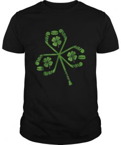 Hockey St Patrick Day Shamrock Hockey Irish  Unisex