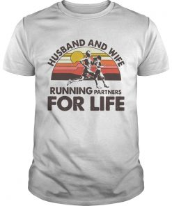Husband And Wife Running Partners For Life Vintage  Unisex
