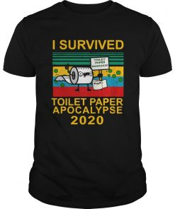 I survived toilet paper apocalypse 2020 vintage  Unisex