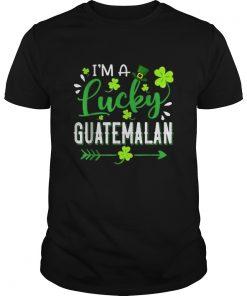 Im A Lucky Guatemalan Shamrock Top Hat St Patricks Day  Unisex