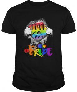 LGBT Love Is Love pride Blood Inside Me  Unisex