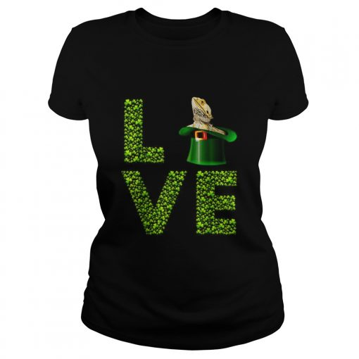 Love Bearded Dragon St Patricks Day Shamrock Irish  Classic Ladies