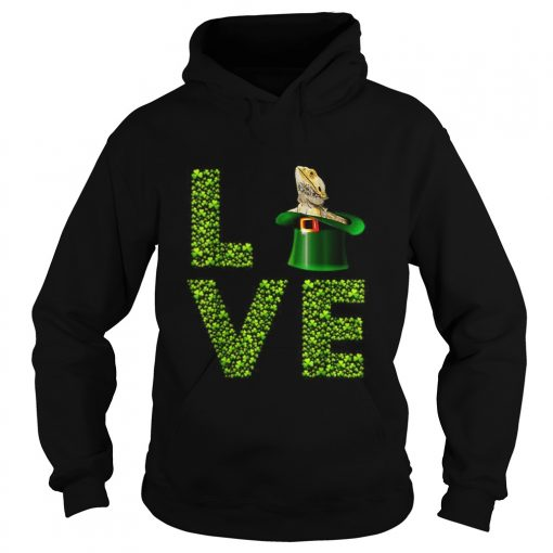 Love Bearded Dragon St Patricks Day Shamrock Irish  Hoodie