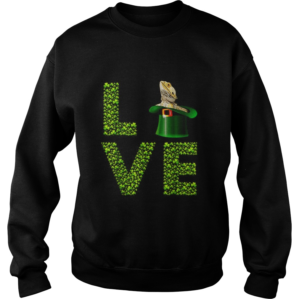 Love Bearded Dragon St Patricks Day Shamrock Irish Sweatshirt