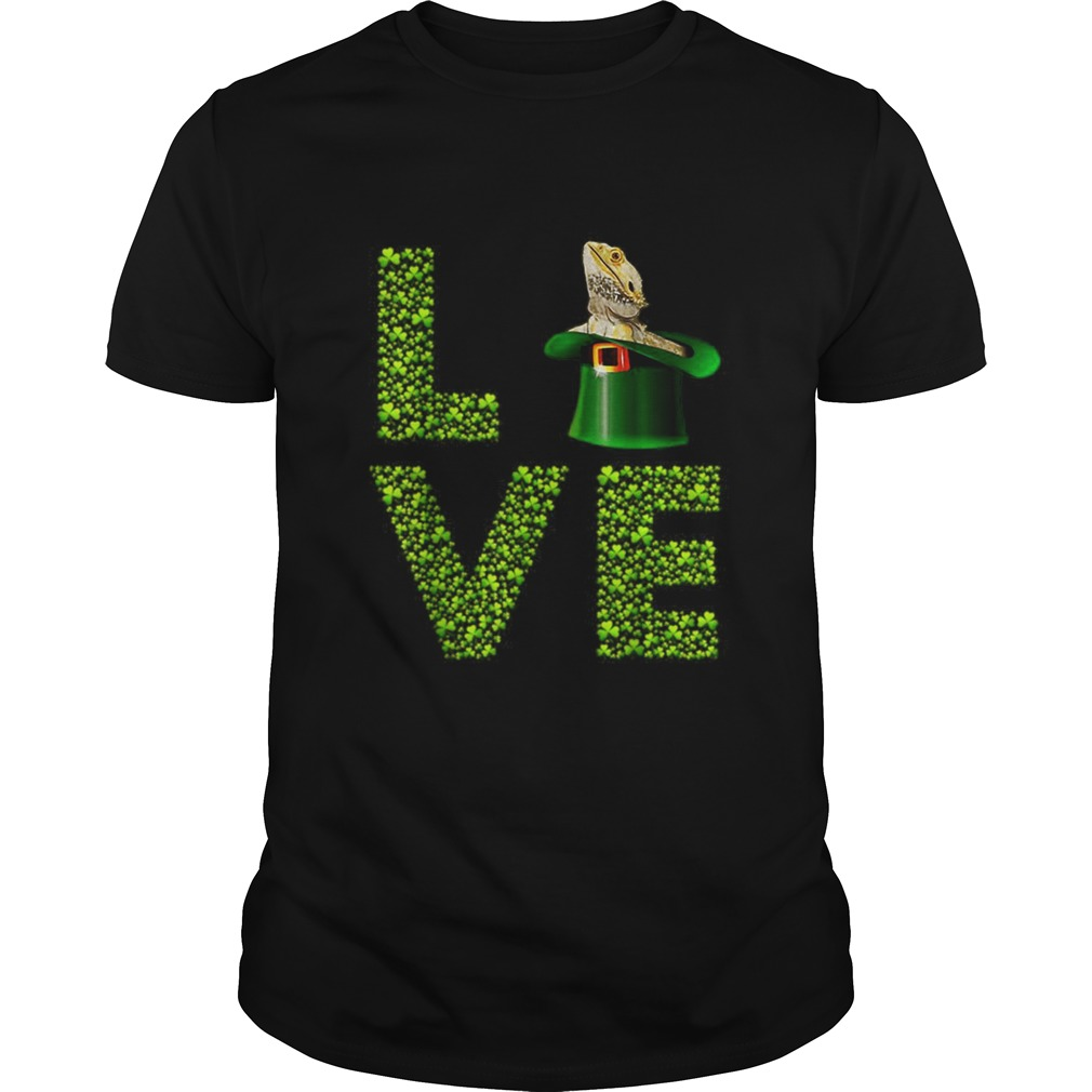 Love Bearded Dragon St Patricks Day Shamrock Irish Unisex