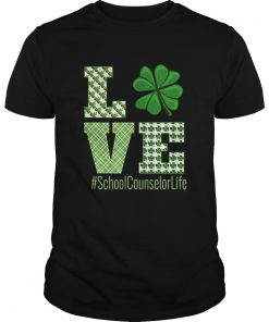 Love School Counselor Life St Patricks Day School Counselor  Unisex