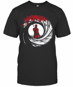 Mashup Deadpool 007 Jame Bond Gun Barrel T-Shirt Classic Men's T-shirt