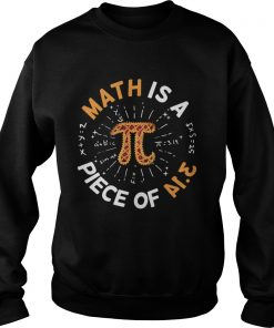 Math Is A Piece Of Cake Apple Pi Happy Pi Day  Sweatshirt