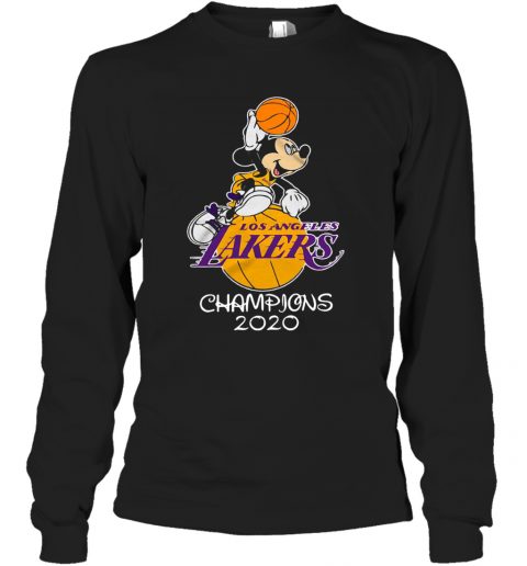 Mickey Mouse Los Angeles Lakers Champions 2020 T-Shirt ...