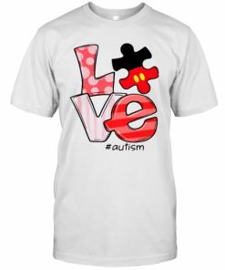 Mickey Mouse Love Autism T-Shirt Classic Men's T-shirt