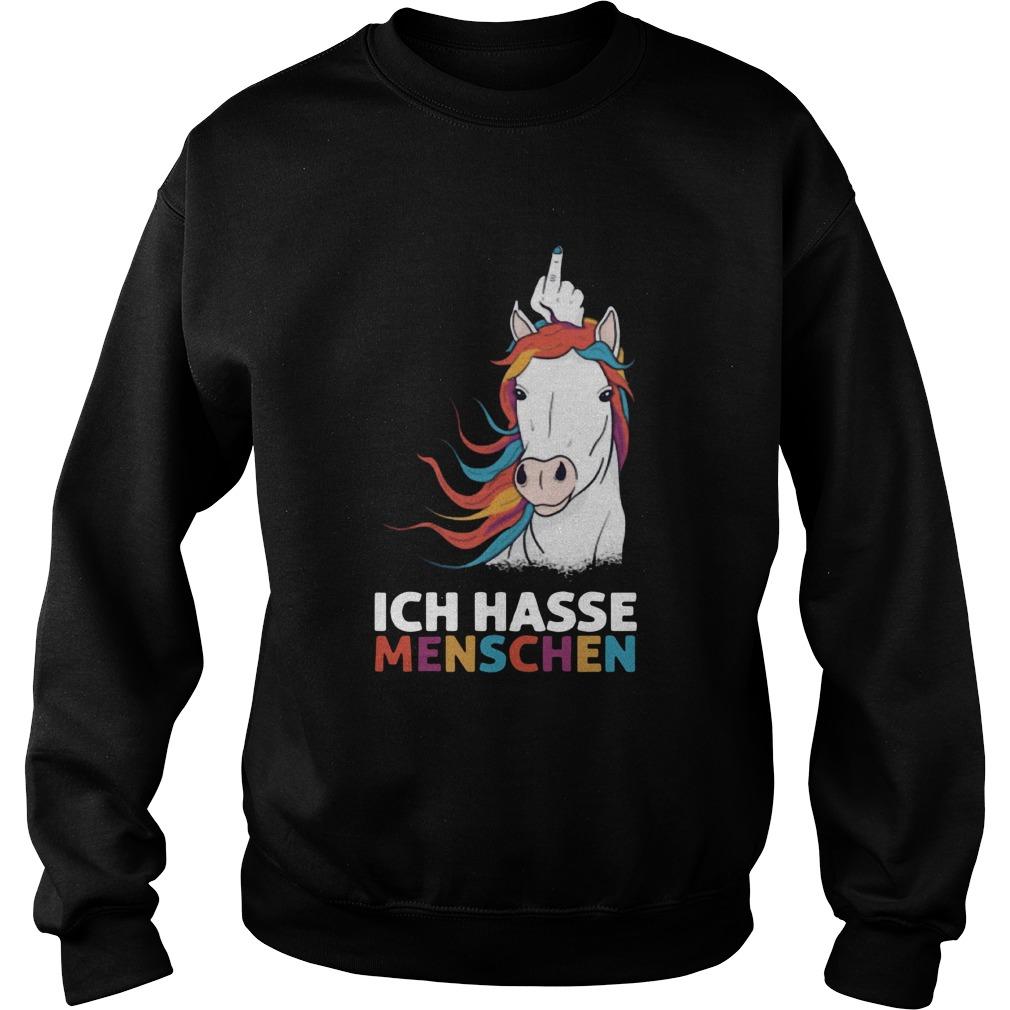 Middle Finger Unicorn Ich Hasse Menschen Sweatshirt