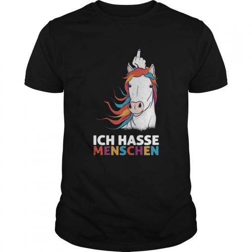 Middle Finger Unicorn Ich Hasse Menschen  Unisex