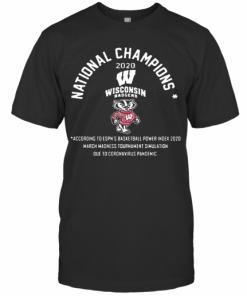 National Champions 2020 Wisconsin Badgers T-Shirt Classic Men's T-shirt