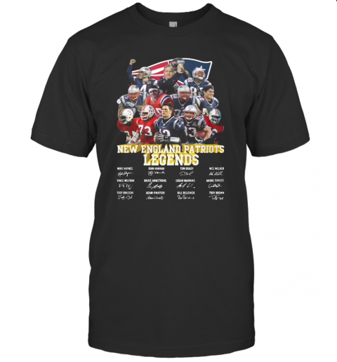 New England Patriots Legends All Team Signature T-Shirt Classic Men's T-shirt