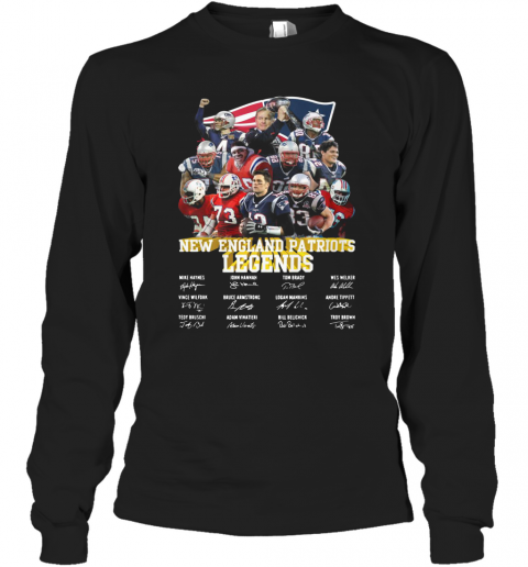 New England Patriots Legends All Team Signature T-Shirt Long Sleeved T-shirt