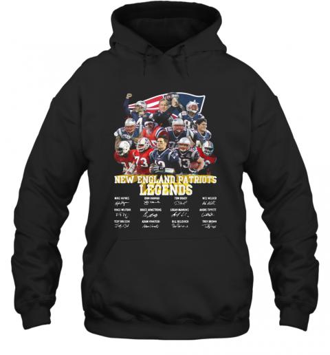 New England Patriots Legends All Team Signature T-Shirt Unisex Hoodie