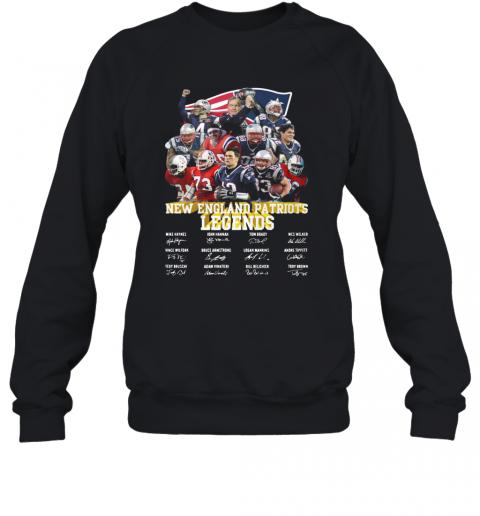 New England Patriots Legends All Team Signature T-Shirt Unisex Sweatshirt