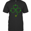 Nice Irish Nurse St Patricks Day Stethoscope Heartbeat T-Shirt Classic Men's T-shirt
