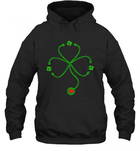 Nice Irish Nurse St Patricks Day Stethoscope Heartbeat T-Shirt Unisex Hoodie