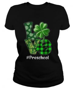 Nice Love Preschool Plaid St Patricks Day Shamrock  Classic Ladies
