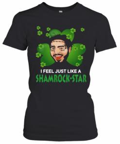 Patrick Day Post Malone I Feel Just Like A Shamrock Star T-Shirt Classic Women's T-shirt