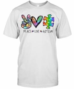 Peace Love Autism T-Shirt Classic Men's T-shirt