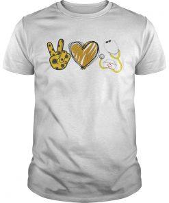 Peace Love Nurse Peace Heart  Unisex
