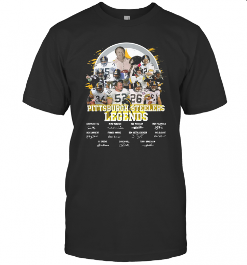 Pittsburgh Steelers Legends All Team Signatures T-Shirt Classic Men's T-shirt