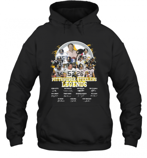 Pittsburgh Steelers Legends All Team Signatures T-Shirt Unisex Hoodie