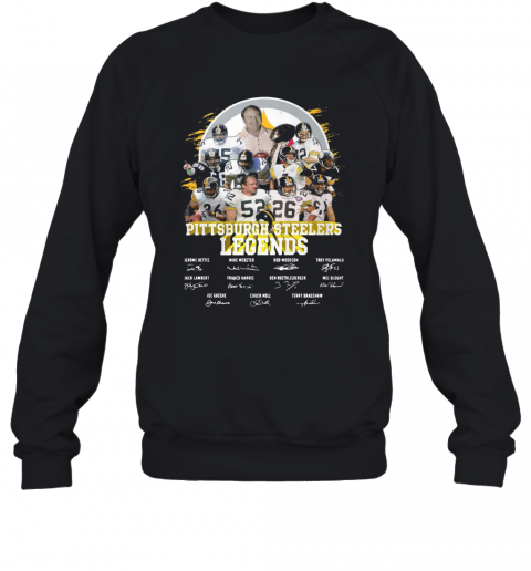 Pittsburgh Steelers Legends All Team Signatures T-Shirt Unisex Sweatshirt