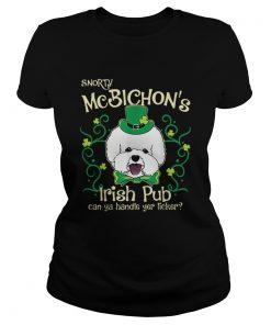 Pretty Bichon Frise Dog Gifts St Patricks Day  Classic Ladies