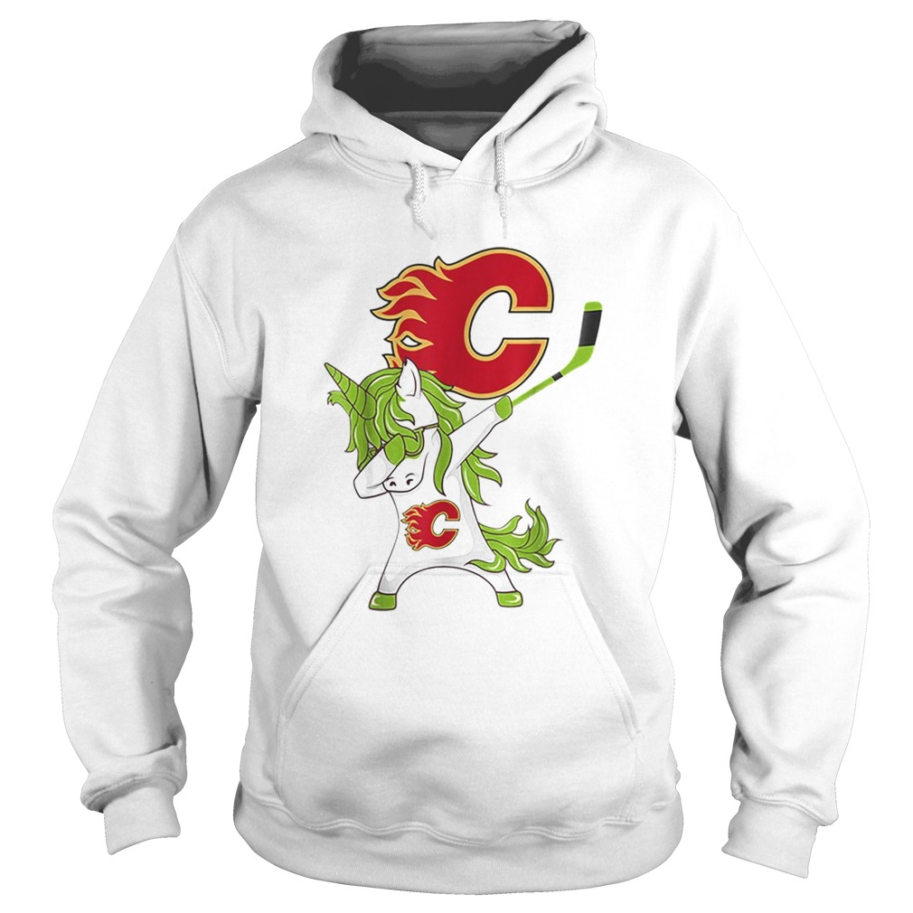 Pretty St Patrick Day Dabbing Unicorn Hockey Stick Calgaryflame Hoodie