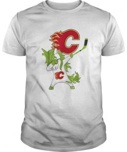 Pretty St Patrick Day Dabbing Unicorn Hockey Stick Calgaryflame  Unisex