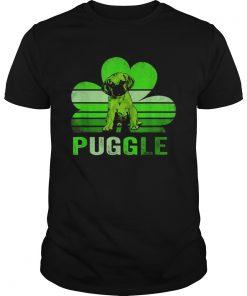 Puggle shamrock St Patricks day  Unisex