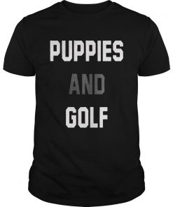 Puppies And Golf  Unisex