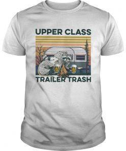 Raccoon And Possum Upper Class Trailer Trash Vintage  Unisex