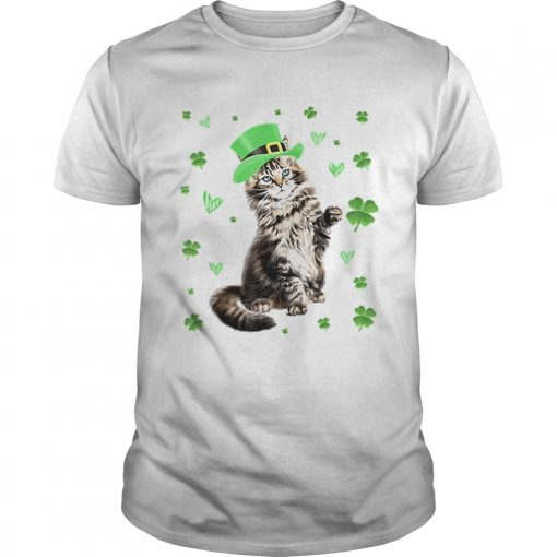 Shamrock Leprechaun Cat St Patricks Day Irish  Unisex