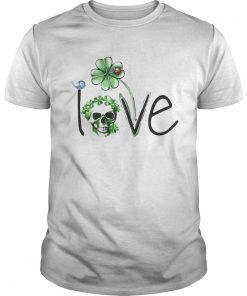 Skull Shamrock St Patricks Day Love  Unisex