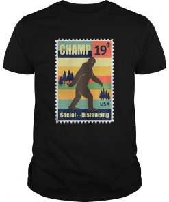 Social Distancing Champ Bigfoot Stamp 2020 Vintage  Unisex