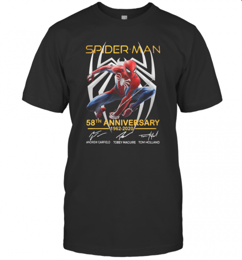 Spider Man 58Th Anniversary 1962 2020 Signatures T-Shirt Classic Men's T-shirt