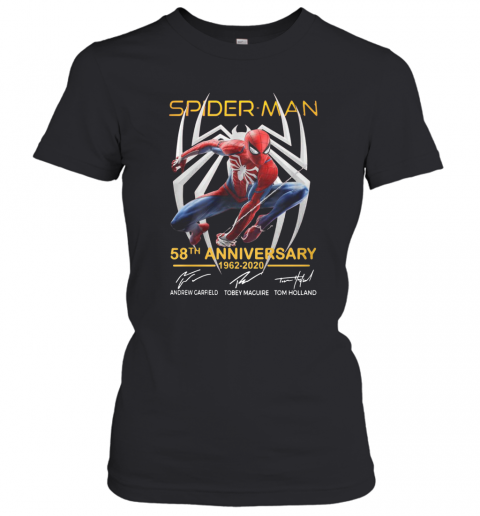 Spider Man 58Th Anniversary 1962 2020 Signatures T-Shirt Classic Women's T-shirt