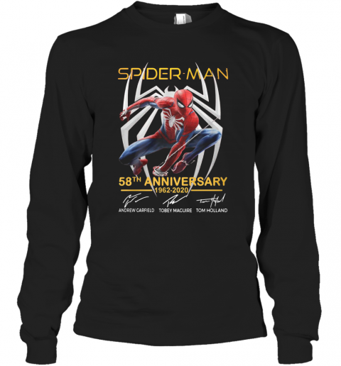 Spider Man 58Th Anniversary 1962 2020 Signatures T-Shirt Long Sleeved T-shirt