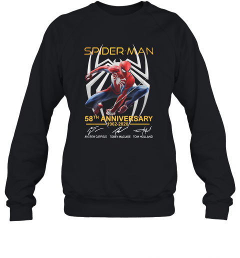 Spider Man 58Th Anniversary 1962 2020 Signatures T-Shirt Unisex Sweatshirt
