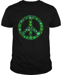 St Patrick Day Gifts for Men Women Hippie Peace Love  Unisex