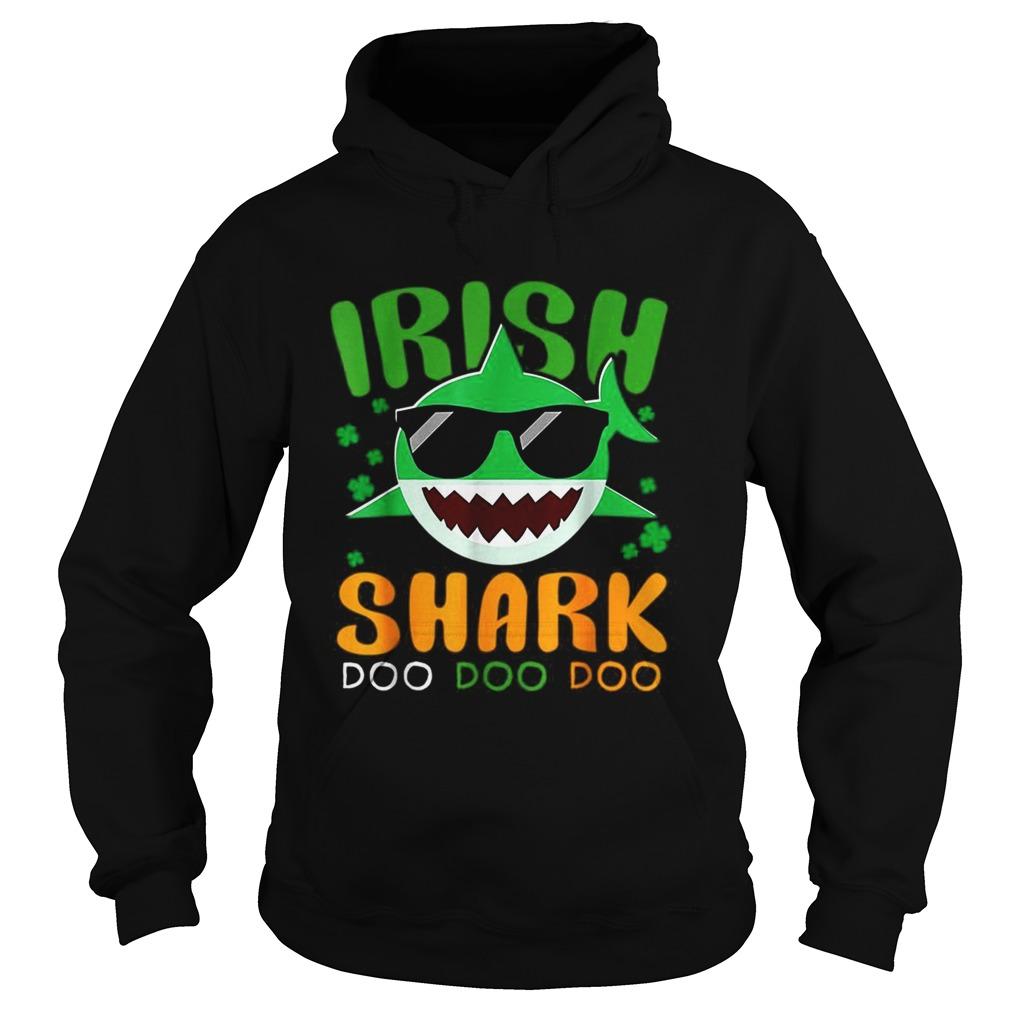 St Patricks Day Irish Shark Funny Gift For Men Women Kids Hoodie