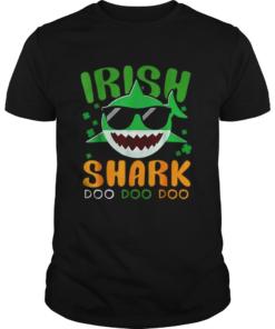 St Patricks Day Irish Shark Funny Gift For Men Women Kids  Unisex
